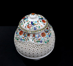 Marble Inlay Flower Pot Flower Vase for Home and Office Decor - $995.00