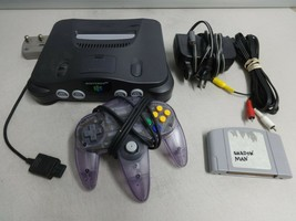 TESTED Grey Nintendo 64 N64 Video Game Console System OEM Controller Cor... - $156.77