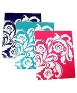 Carolina Pad Studio C 3 Folder Set ~ Versailles (White Floral Pattern on... - $39.60