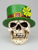 Leprechaun Skull Luck of the Irish Stash Box St. Patrick's Day Collectib... - $29.69