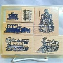 Stampin Up All Aboard Stamp Set Trains Choo Choo Locomotive Mounted Rubber  - $24.70