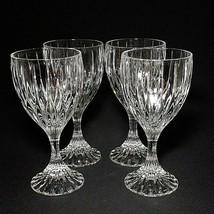 4 (Four) MIKASA PARK LANE Cut Lead Crystal Water Goblets Glasses DISCONT... - $85.49