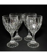 4 (Four) MIKASA PARK LANE Cut Lead Crystal Water Goblets Glasses DISCONT... - $85.49