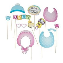 Fun Express - Baby Shower Photo Stick Props for Baby - Apparel Accessori... - $9.70