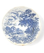 """Blue & White Countryside Wedgwood & Co England 5 3/8"""" Saucer Plate Vintage - $6.85"""