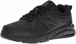 NEW BALANCE WOMENS SZ 6.5 2A NARROW BLACK TRAINING SHOES SNEAKERS RUN 85... - $49.99