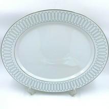 "Patrician Profile Paul McCobb China Oval Platter 15"" Jackson Internation... - $99.95"