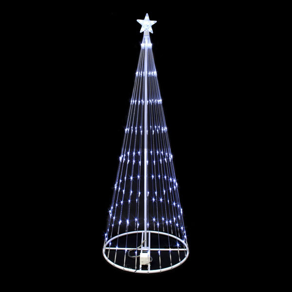 12 FT LED Christmas Holiday Light Show Motion 3D Outdoor Decoration White NEW