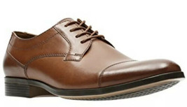 Clarks Men's Conwell Cap Oxford, Tan Leather, 7.5M - $56.06