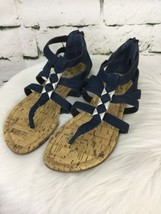 5 Sole Cork Blue Womens 5 Sandals Gladiator Sz Navy Impo IX8qT