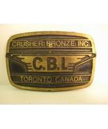 Brass Belt Buckle by Dynabuckle Provo Utah CBI Crusher Bronze Toronto Ca... - $11.71