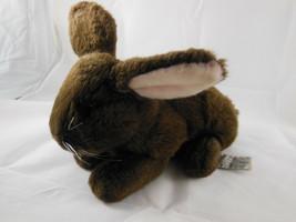 "Russ Berrie YOMIKO Plush DUTCH Bunny Rabbit 9"" Long soft Brown w pink ears - $6.67"