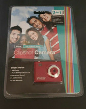 Vivitar Camera Clipshot Video 3 in 1 Red Factory Sealed 16 MB of Memory New - $22.99