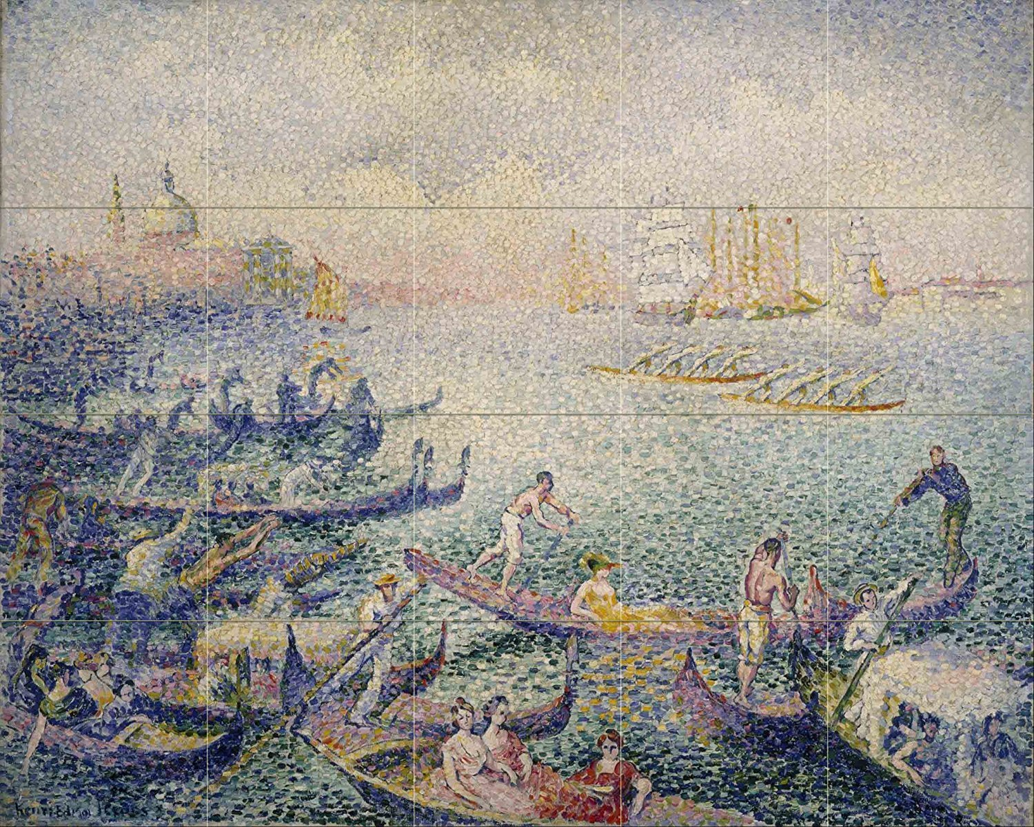 Regatta in venice by henri edmond cross 20 tile art for Crossing the shallows tile mural