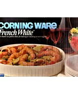 "CORNING WARE OVAL ""FRENCH WHITE"" 1.5 Quart CASSEROLE BAKING DISH - $20.00"