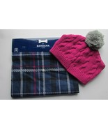 Pet Hat & Bandana Cat, Dog etc. Pink Pom Pom & Gray  Sz Medium NWT Set - $14.86