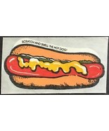 Vintage Mello Smello Hot Dog Sticker Hot Dog Scented Scratch and Smell - $8.99