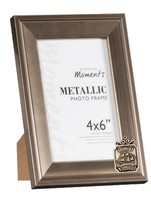 Ship Tavern Pewter Emblem on PICTURE FRAME SILVER 6X4 Hang/Stand codeDH11 - $23.66