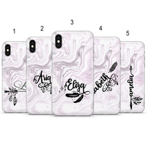 Personalized pink marble phone case cover fits for iPhone Samsung Huawei... - $10.00