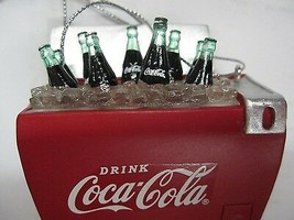 Coca-Cola Ornament Christmas Ice Cold Cooler  NEW - $14.60