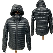 Women's Adidas Puffer Black Goose Down Feather Winter Jacket Small S - $38.61