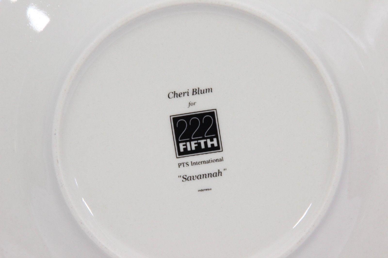 "222 Fifth Savannah Plates Saucers 6.5"" Set of 8 image 4"