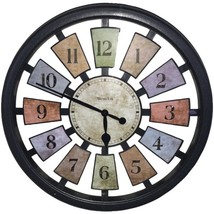 Westclox 36014 18 Round Colored Panels See-Through Clock - $42.99