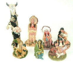 Vtg Lot Amerind Warrior Collectible Decorations Figurines Native Southwest - $69.25
