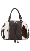 American West- Cow Town Large Zip-Top Convertible Satchel (Pony Hair-on) - $308.00