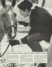 Horse Equestrian Vintage 1967 WAC Army Recruitment Photo Illustration AD - $14.99
