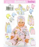 Butterick 5584 Baby Infant Jacket Overalls Pants Hat Mittens pattern UNCUT FF - £10.84 GBP