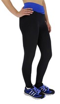 BRAND NEW W SPORT WOMENS ATHLETIC GYM WORKOUT LONG LEGGING PANTS BLACK/NAVY 4813 image 2
