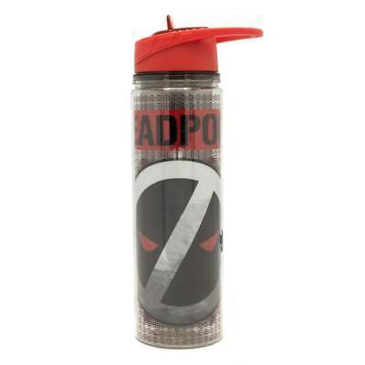 Primary image for Deadpool Reverse Logo 550ml 18oz Plastic Water Bottle Grey