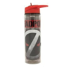 Deadpool Reverse Logo 550ml 18oz Plastic Water Bottle Grey - $18.98