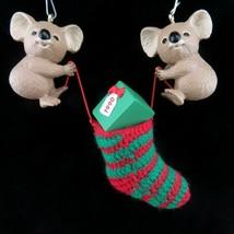 Vintage Koala Christmas Stocking Ornament Hallmark Keepsake 1990 - $29.99