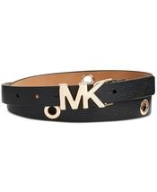 MICHAEL Michael Kors Leather Logo Collar Grommet Belt Size Large Black $... - $33.31