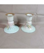 Vintage Pair of Prov Sace E S Germany Floral Candle Stick Holders - $9.49