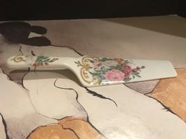 """Andrea Sadek Porcelain 10"""" Pink Floral Cake Knife - £11.45 GBP"""