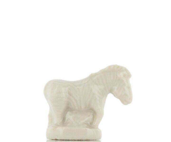 Wade Whimsie Miniature Porcelain White Zebra Standing
