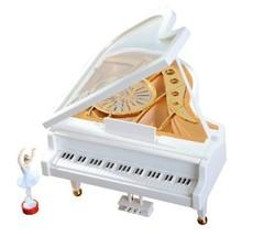 Alytimes Mechanical Classical Ballerina Girl Dancing on The Piano Music Box - $13.69