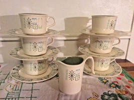 STARBURST cups coffee saucers creamer vtg Taylor, Smith & Taylor Cathay ... - $49.99