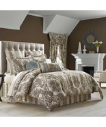 New J.Queen New York Crystal Palace 4 Piece Queen Comforter Set Taupe - $287.09