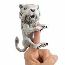 WowWee Untamed Sabre Tooth Tiger by Fingerlings – Silvertooth (Silver) Toy - $24.98