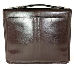 Avenues America Vintage Dark Brown Bonded Leather Zippered Folio Organizer - $32.00
