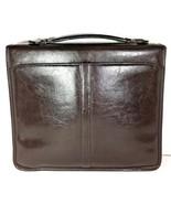 Avenues America Vintage Dark Brown Bonded Leather Zippered Folio Organizer - $32.00