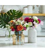 New USA Seller Textured ceramic Flower White Home Display Table Vase - $29.69