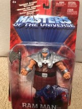 Mattel MOTU 200X Masters of the Universe Ram Man Red Silver Action Figur... - $29.70