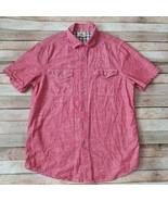 Woolrich Red Men Shirt 100% Cotton Size Medium - $14.85