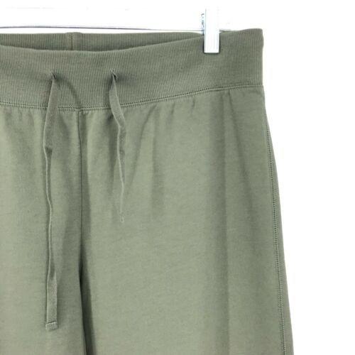 Sundance Donna Sz Medium Felpa Pantaloni Gamba Larga Verde Oliva Disegno