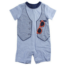 First Impressions Baby Boys Vest & Glasses Romper, Bluebelle - $9.00